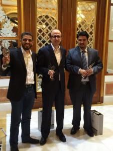 من اليسار إلى اليمين ، مصطفى فرحات (عن موقع نفهم) ، مصطفى محمد (عن الفهرست) و علي الصالحي (عن موقع يروى)